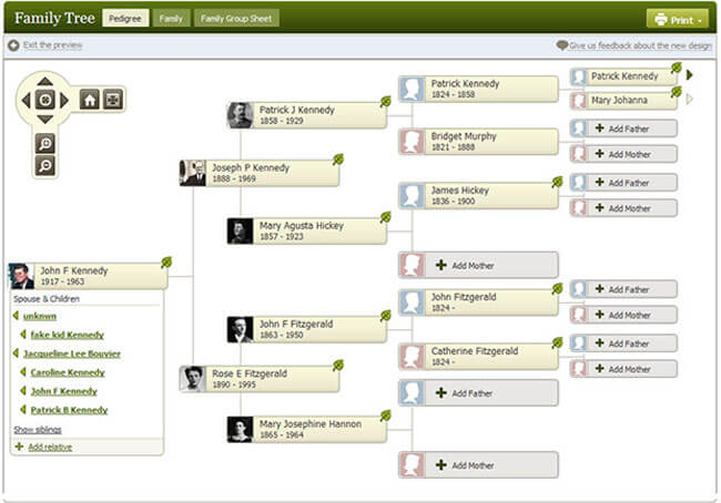 AncestryDNA Family Trees