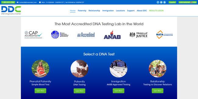 DDC DNA Diagnostics Center Homepage