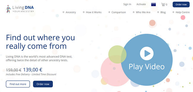 Living DNA Homepage