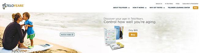 TeloYears homepage