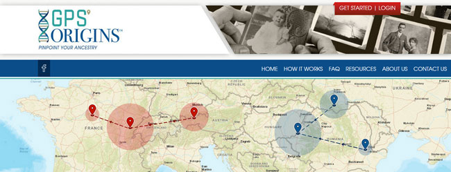 GPS Origins homepage