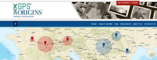 GPS Origins homepage