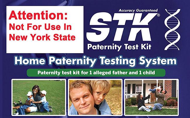 STK Paternity Test Kit homepage