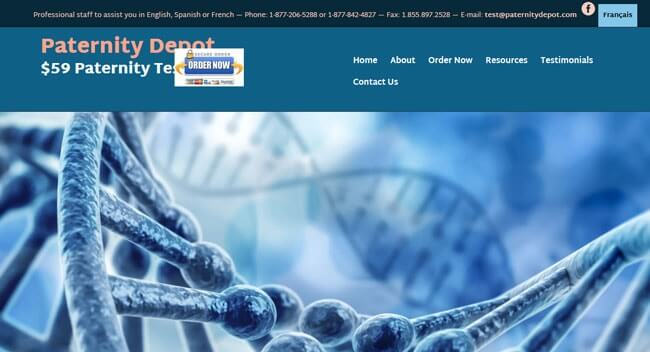 homepage Paternity Depot