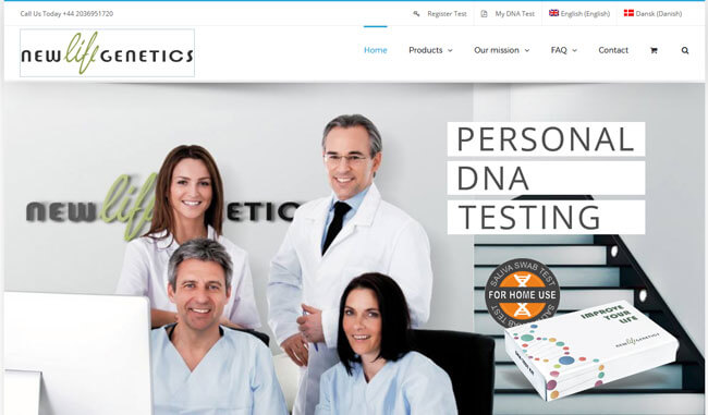 New Life Genetics homepage