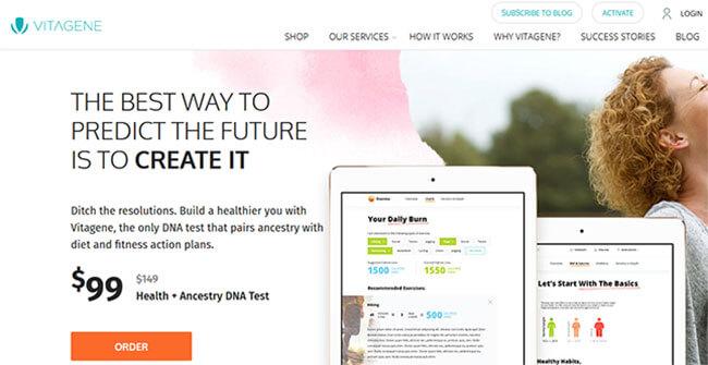 Vitagene homepage