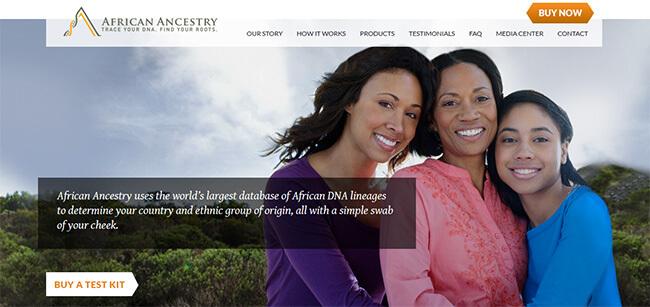 African Ancestry homepage