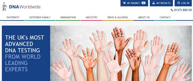 DNA Worldwide homepage