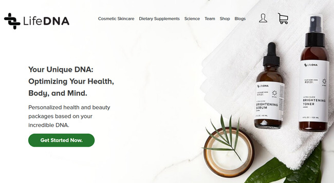LifeDNA homepage