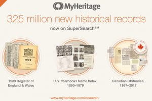 MyHeritage Releases New Genealogical Collection