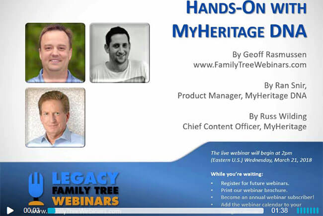 Hands-On With MyHeritage Webinar