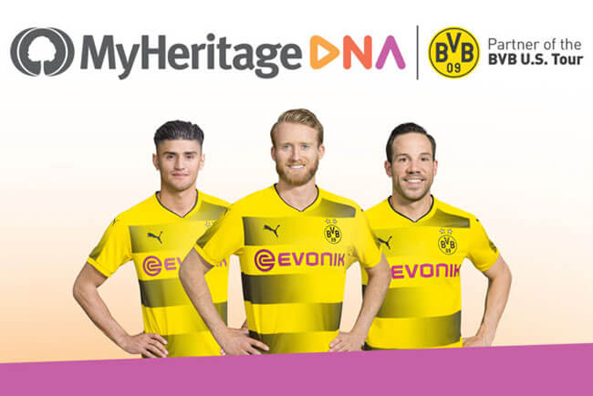 Borussia Dortmund Players Test With MyHeritage DNA