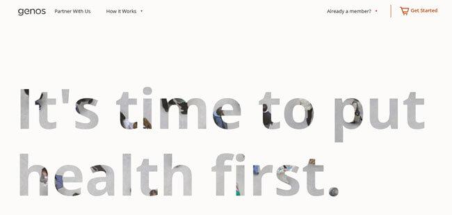 Genos homepage