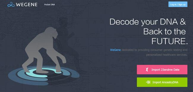 WeGene homepage