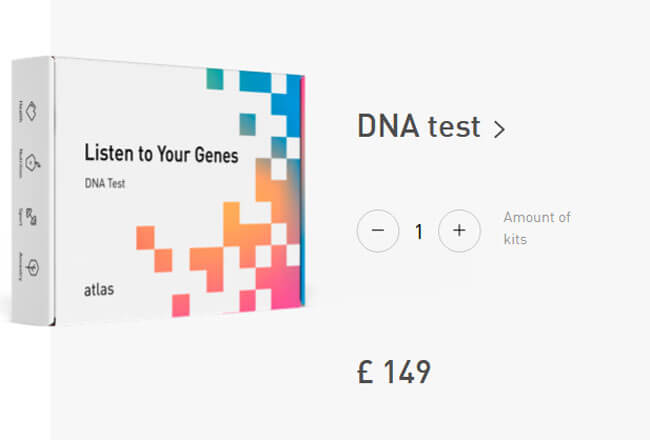 Atlas-Biomed-Listen-To Your Genes DNA Test