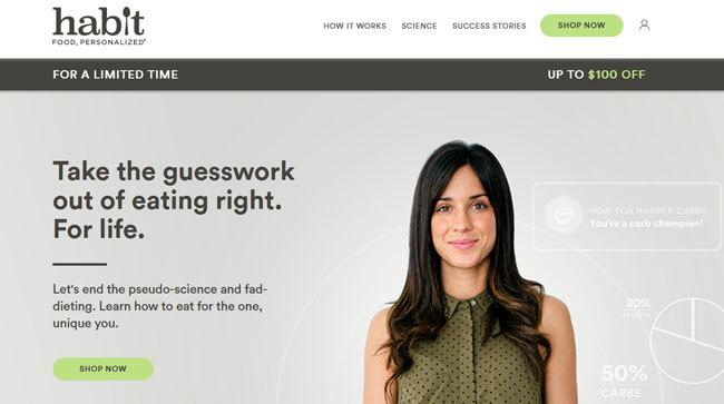 Habit homepage