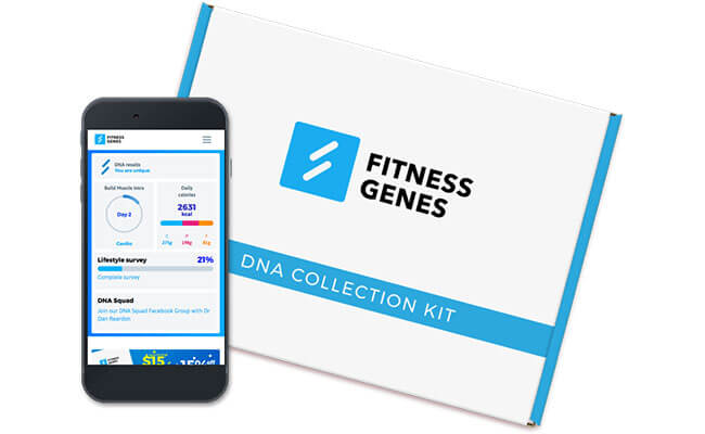 FitnessGenes results oo smart phone