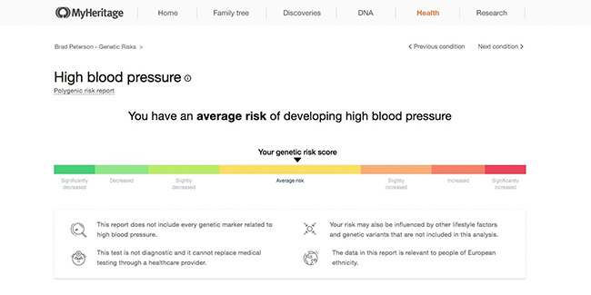 MyHeritage Introduces 9 New Health Related Reports