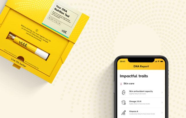 Vitl dna test and smart phone app