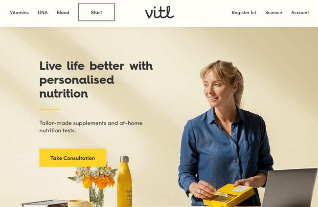 Vitl printscreen homepage